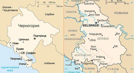 И политическая карта черногории