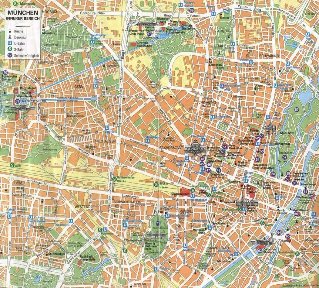 Ниже вы найдете подробную карту Мюнхена со спутника с дорогами и домами.  Карта интерактивная, вы можете увеличивать...
