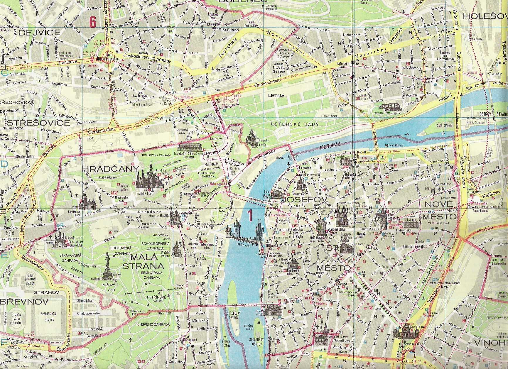 Подробная карта города прага чехия